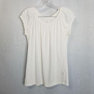 GRACE White Sleevless Top